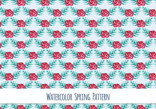 Free Vector Watercolor Pattern with Beautiful Flowers - бесплатный vector #417413