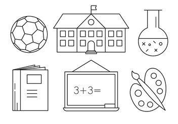 Free School Icons - vector gratuit #417453