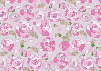Camellia Pattern Vector - Free vector #417473
