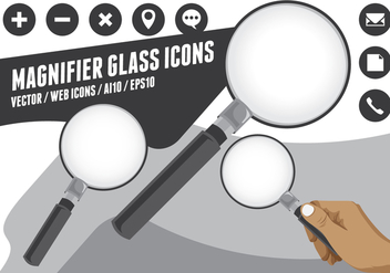 Magnifying Glass Icons - vector gratuit #417503