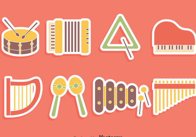 Nice Music Instrument Collection Vector - Kostenloses vector #417523