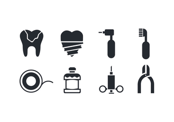 Dental Care Icons - Free vector #417553