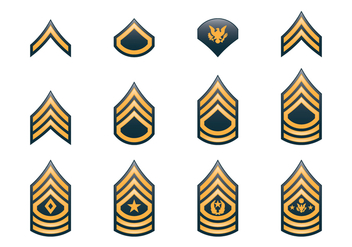 Army Rank Insignia - бесплатный vector #417633