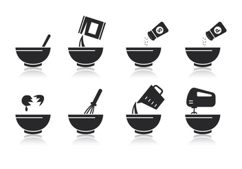 Free Mixing Bowl Vector - бесплатный vector #417663