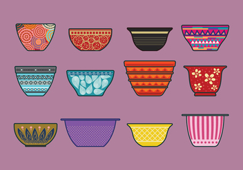 Vector Set of Mixing Bowls - бесплатный vector #417673