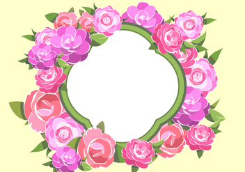 Camelia Frame Free Vector - Free vector #417783