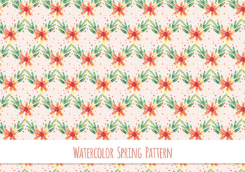 Free Vector Pattern With Floral Theme - Kostenloses vector #417803