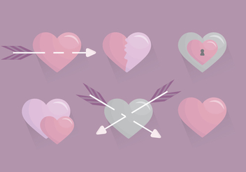 Vector Valetine's Day Hearts - Kostenloses vector #417833