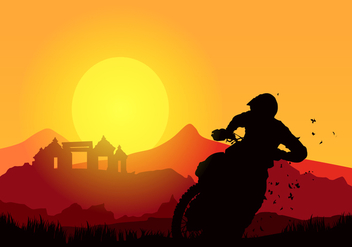 Bike Trail Free Vector - Free vector #417883