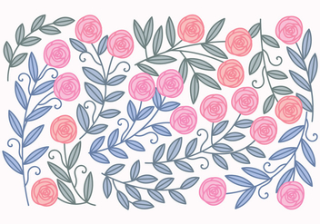 Vector Roses And Leaves - Kostenloses vector #417893