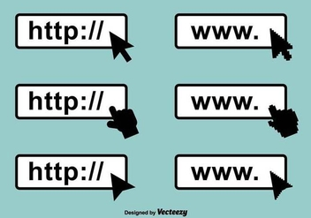 Address Bar Vector Icons - vector #417903 gratis