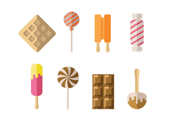 Candy, ice and dessert icons - vector #417963 gratis