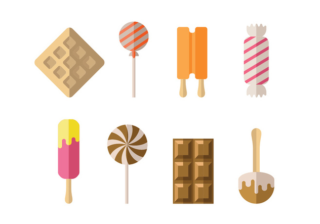 Candy, ice and dessert icons - Free vector #417963