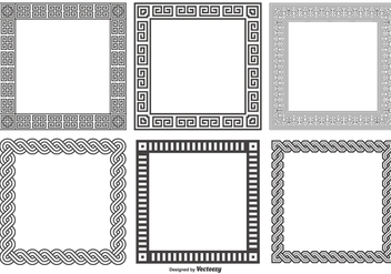 Decorative Square Frames Collection - vector #418063 gratis