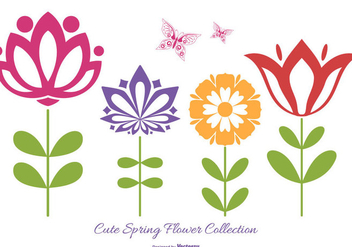 Cute Flower Vector Shapes - Free vector #418123