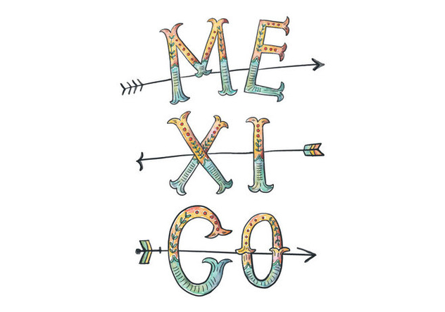 Mexico Lettering Illustration - Free vector #418223