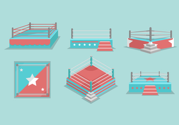 Wrestling Ring Vector Illustration - vector #418263 gratis