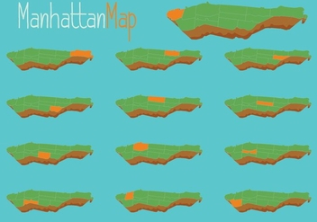 Free Vector Manhattan Map - бесплатный vector #418273