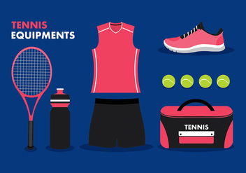 Tennis Equipment Free Vector - vector gratuit #418283