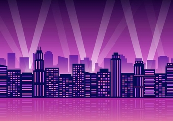 Free City Lights Vector Illustration - Kostenloses vector #418423