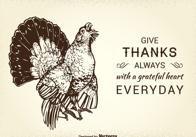 Free Thanksgiving Wild Turkey Vector Card - Kostenloses vector #418493
