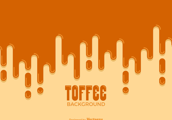 Free Dripping Toffee Vector Background - Kostenloses vector #418523