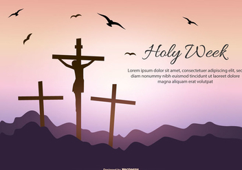 Holy Week Text Template - vector #418603 gratis