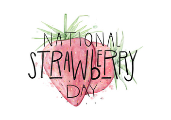 Strawberry Day Illustration - Free vector #418643