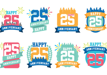 City Anniversary - vector #418663 gratis