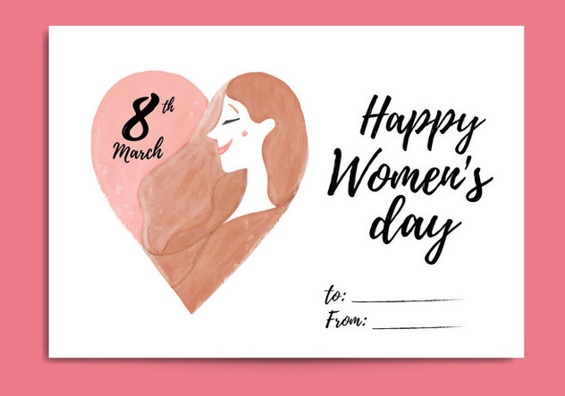 Free Women's Day Card - vector gratuit #418673
