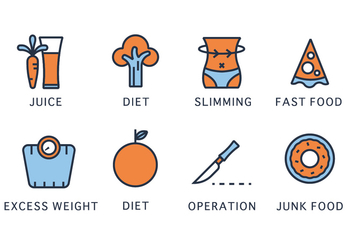 Slimming Icons - vector #418733 gratis