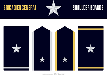 Free Vector Brigadier General Uniform Epaulets - Kostenloses vector #418793