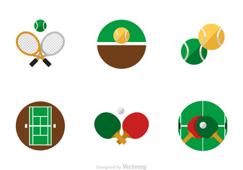 Free Flat Tennis Vector Icons - vector gratuit #418803