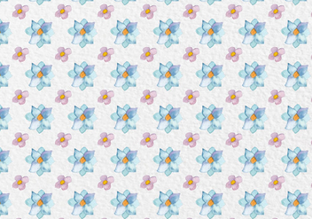 Free Vector Spring Watercolor Flowers Pattern - Free vector #418863