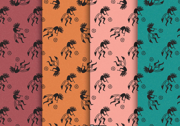 Free Kokopelli Trickster Vector Patterns - Free vector #418953
