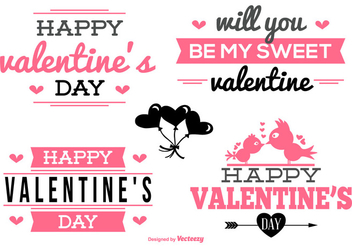 Valentine's Day Labels Collection - vector gratuit #418973