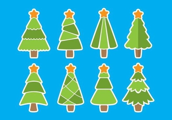 Flat Sapin Vector Icons - Kostenloses vector #419123