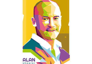 Alan Shearer Football Player Vector - Kostenloses vector #419133