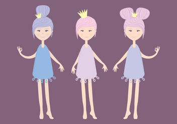 Vector Cute Fairies - Free vector #419143