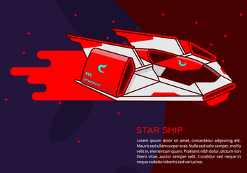 Starship Background - vector gratuit #419223