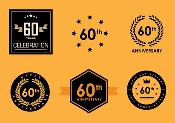 60th Vector Pack 2 - vector gratuit #419233
