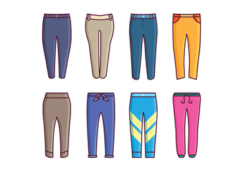 Free Sweatpants Vector Pack - бесплатный vector #419333