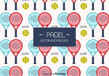 Padel Vector Background - vector gratuit #419373