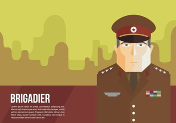 Brigadier General Background Vector - vector gratuit #419383