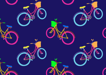 Free Bicicleta Seamless Pattern Vector Illustration - vector gratuit #419413