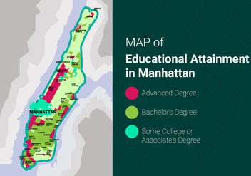 Free Manhattan Map Vector Illustration - бесплатный vector #419423