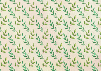 Free Vector Watercolor Leaf Pattern - vector #419433 gratis
