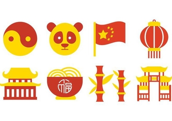 Free China Culture Icons Vector - Free vector #419533