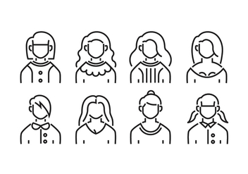 Women avatars - vector #419553 gratis