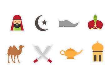Free Middle East Vector Icons - vector gratuit #419563